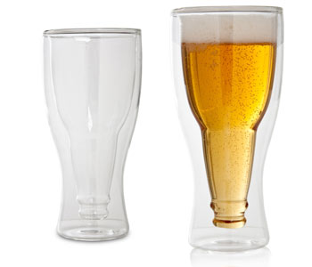 verre a biere bouteille inversee