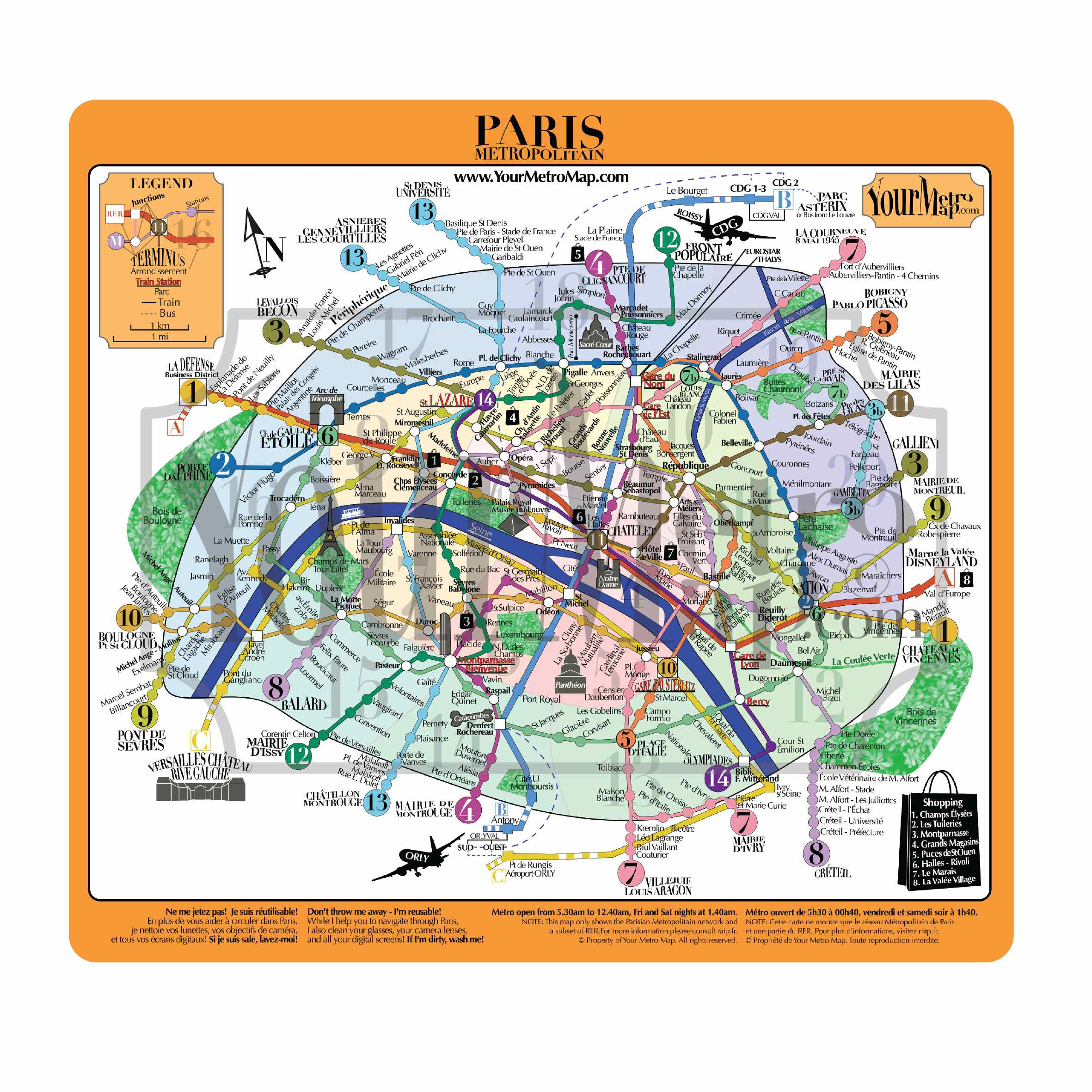 Carte plan de m tro paris tissu microfibre haute qualit for Paris carte touristique