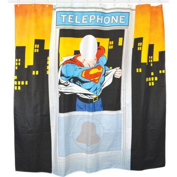 rideau de douche superman super insolite. Black Bedroom Furniture Sets. Home Design Ideas