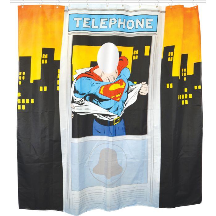 Rideau de douche superman super insolite - Rideau de douche insolite ...