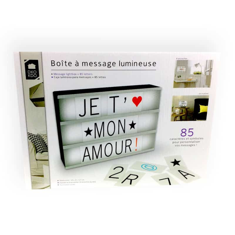 Tableau lumineux message personnalis a4 super insolite - Cadre message lumineux ...