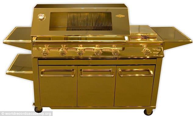 barbecue en or
