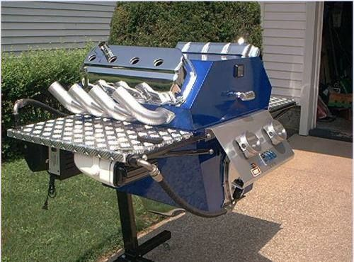 barbecue moteur voiture