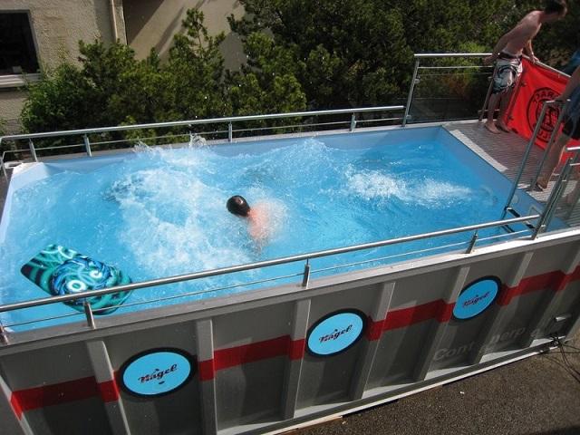 piscines improvisées insolites