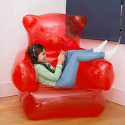 Fauteuil gonflable ourson gummy