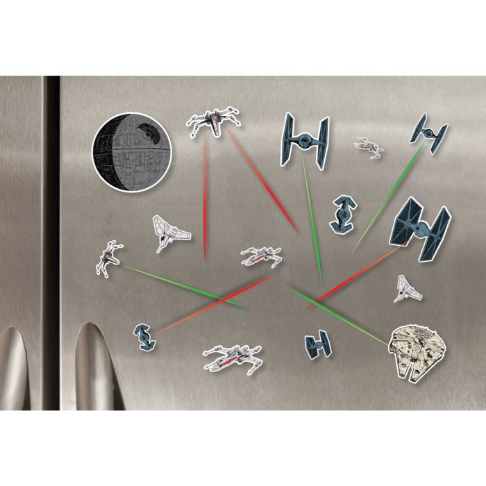 magnets vaisseaux star wars frigo cadeau super insolite. Black Bedroom Furniture Sets. Home Design Ideas