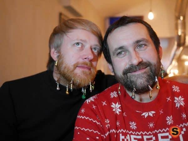 boule de noel barbe