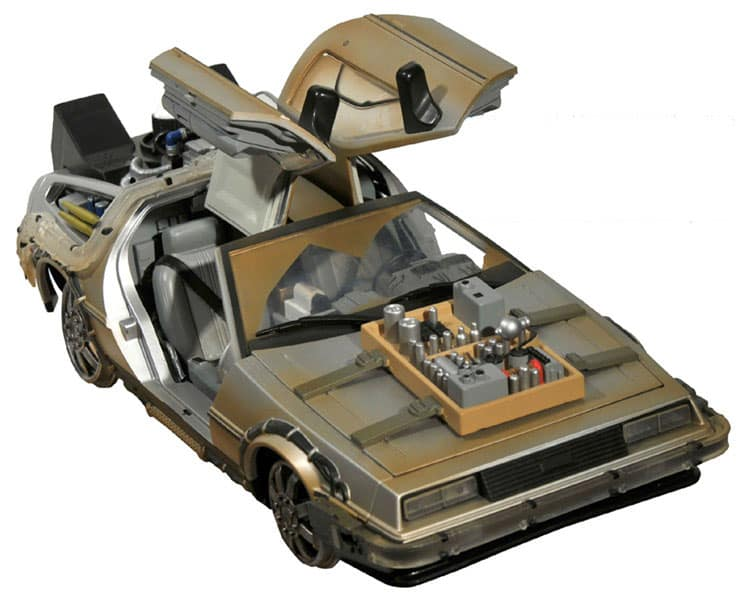 delorean sur rail retour vers le futur 3 super insolite. Black Bedroom Furniture Sets. Home Design Ideas