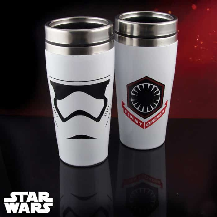 Mug voyage thermos stormtrooper star wars 7 super insolite for Mug isotherme micro onde