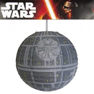 suspension lumiere etoile de la mort star wars