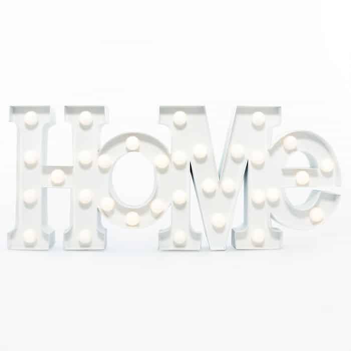 lettres lumineuses home lampe super insolite. Black Bedroom Furniture Sets. Home Design Ideas