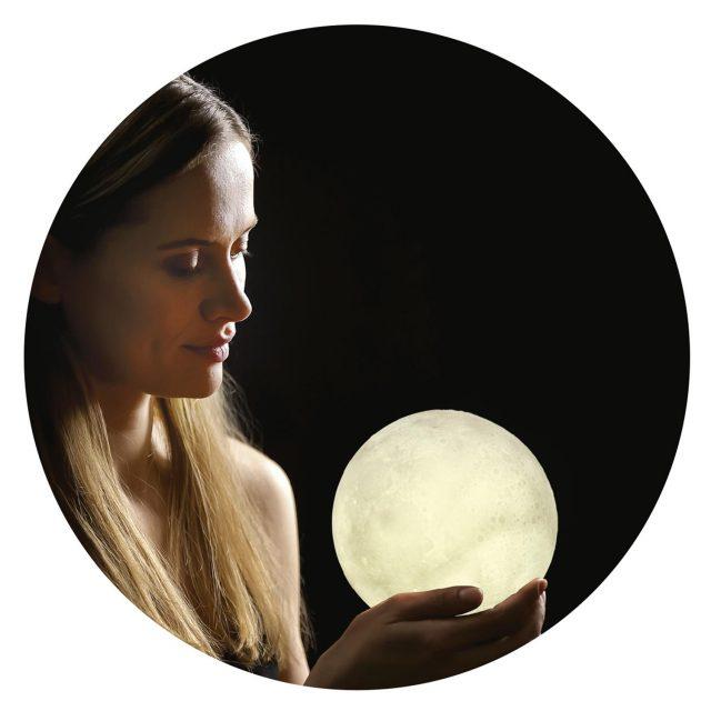 lampe lune tactile