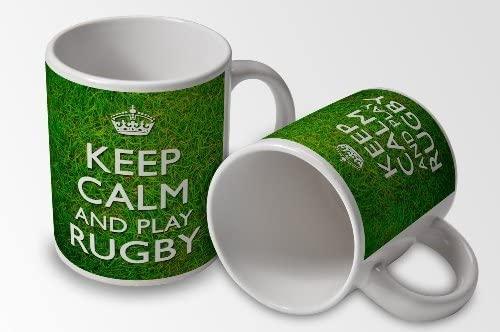 mug keep calm and rugby