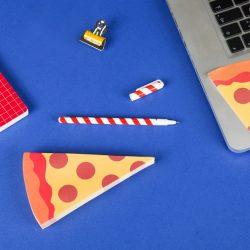 bloc notes adhésif pizza