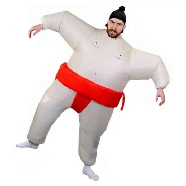 Costume de sumo rouge