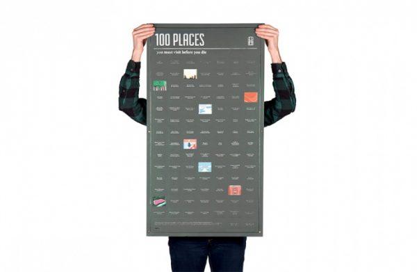poster 100 lieux à visiter avant de mourir