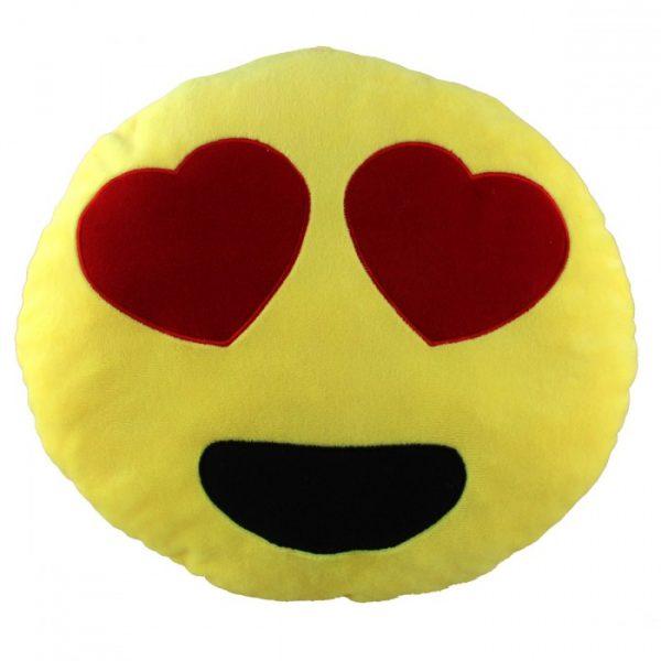 coussin coeur emoticone