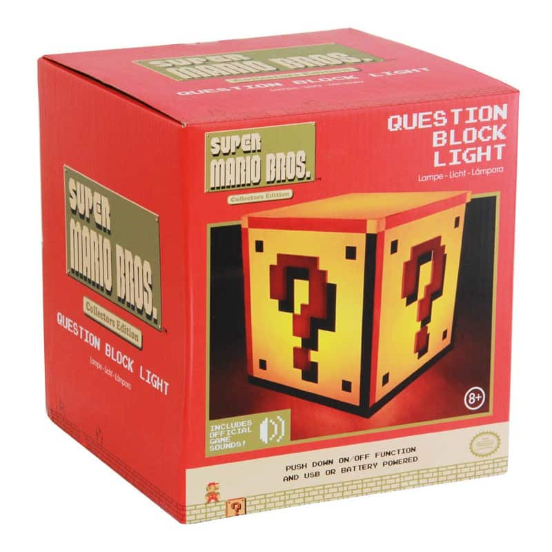 Lampe Super Mario Bros Question Block
