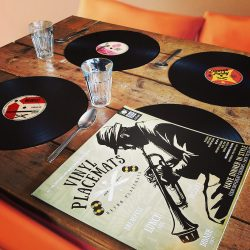 set de table disque vinyle