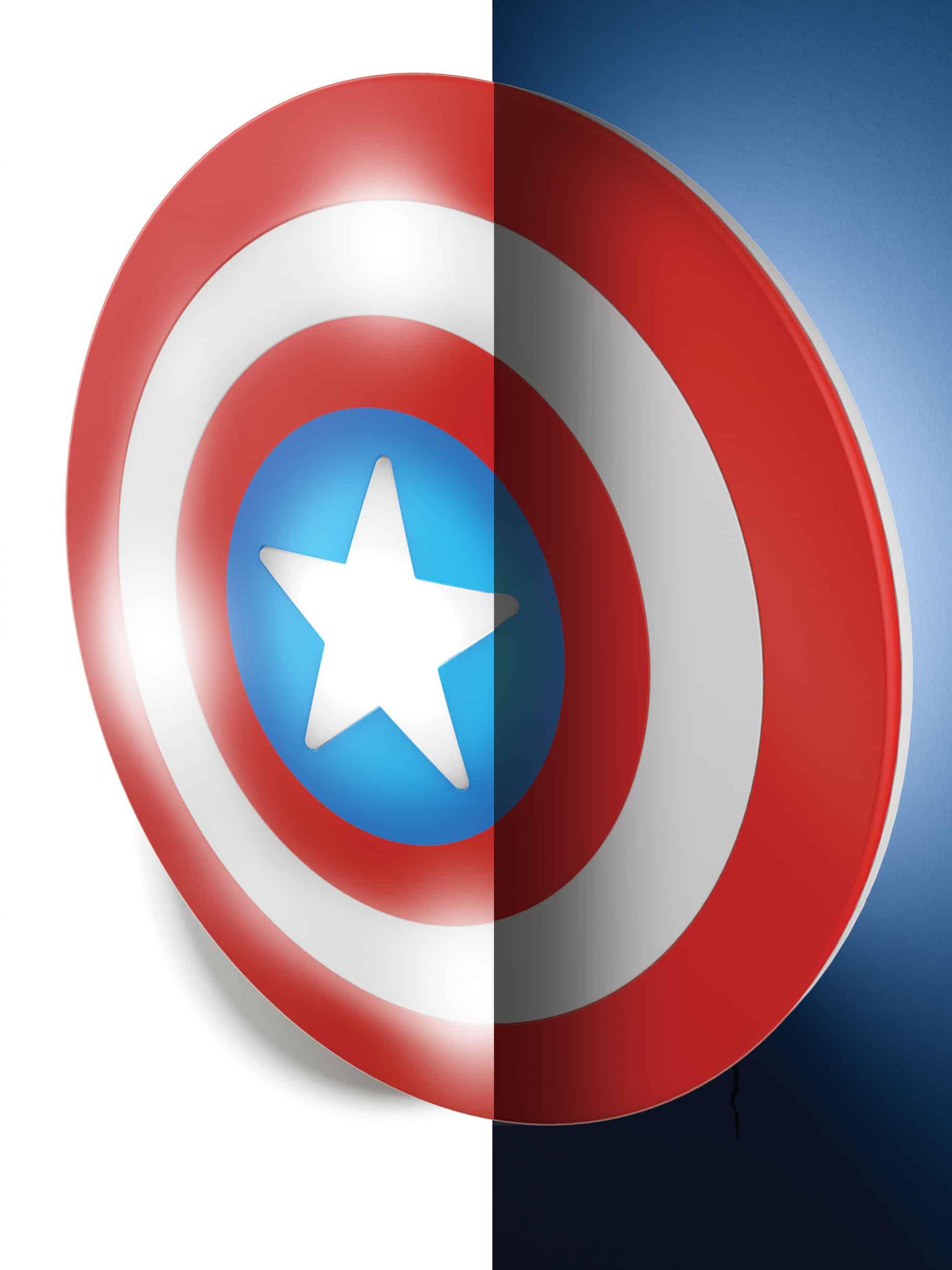 Lampe bouclier captain america marvel super insolite - Bouclier capitaine america ...