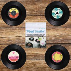 sous-verres disque vinyle