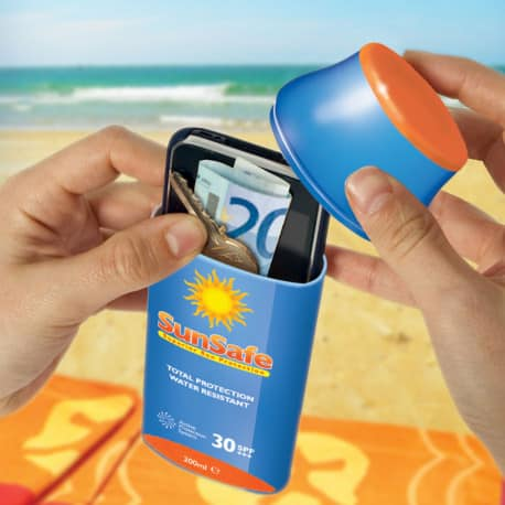 Etui cachette crème solaire