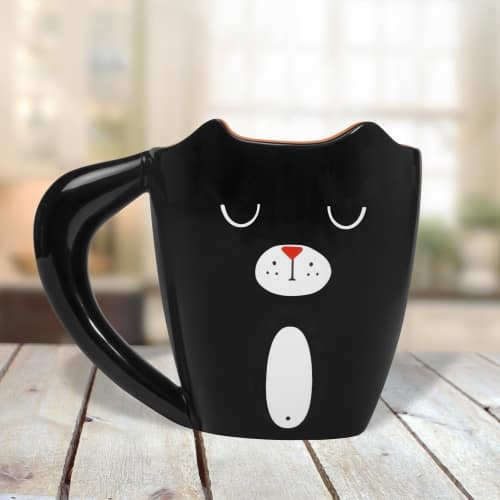 mug petit chat noir