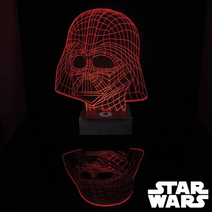 lampe masque dark vador star wars effet 3d super insolite. Black Bedroom Furniture Sets. Home Design Ideas