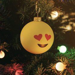 boule noel smiley love