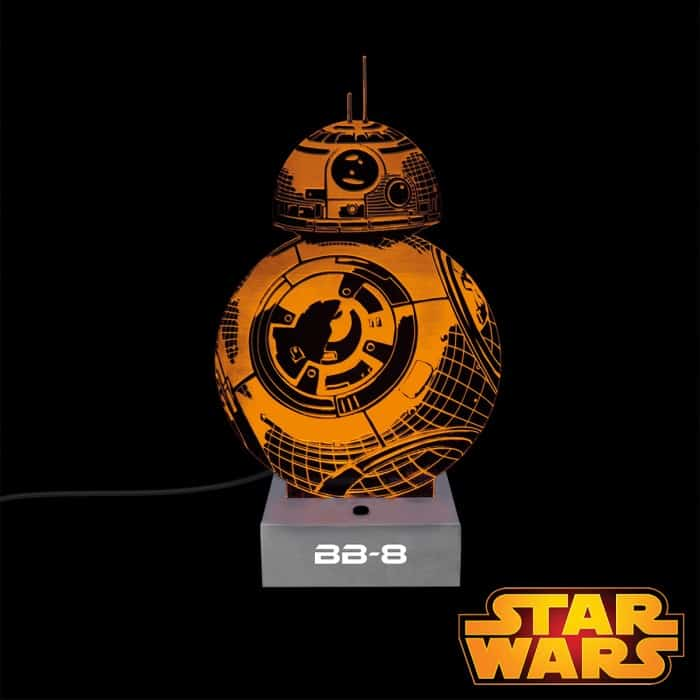 lampe bb 8 projection 3d star wars super insolite. Black Bedroom Furniture Sets. Home Design Ideas