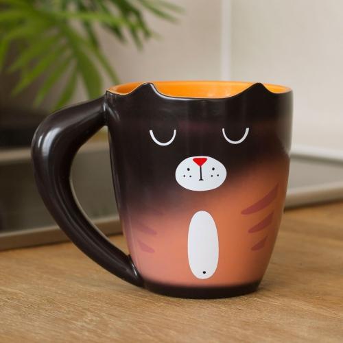 mug chat roux et noir