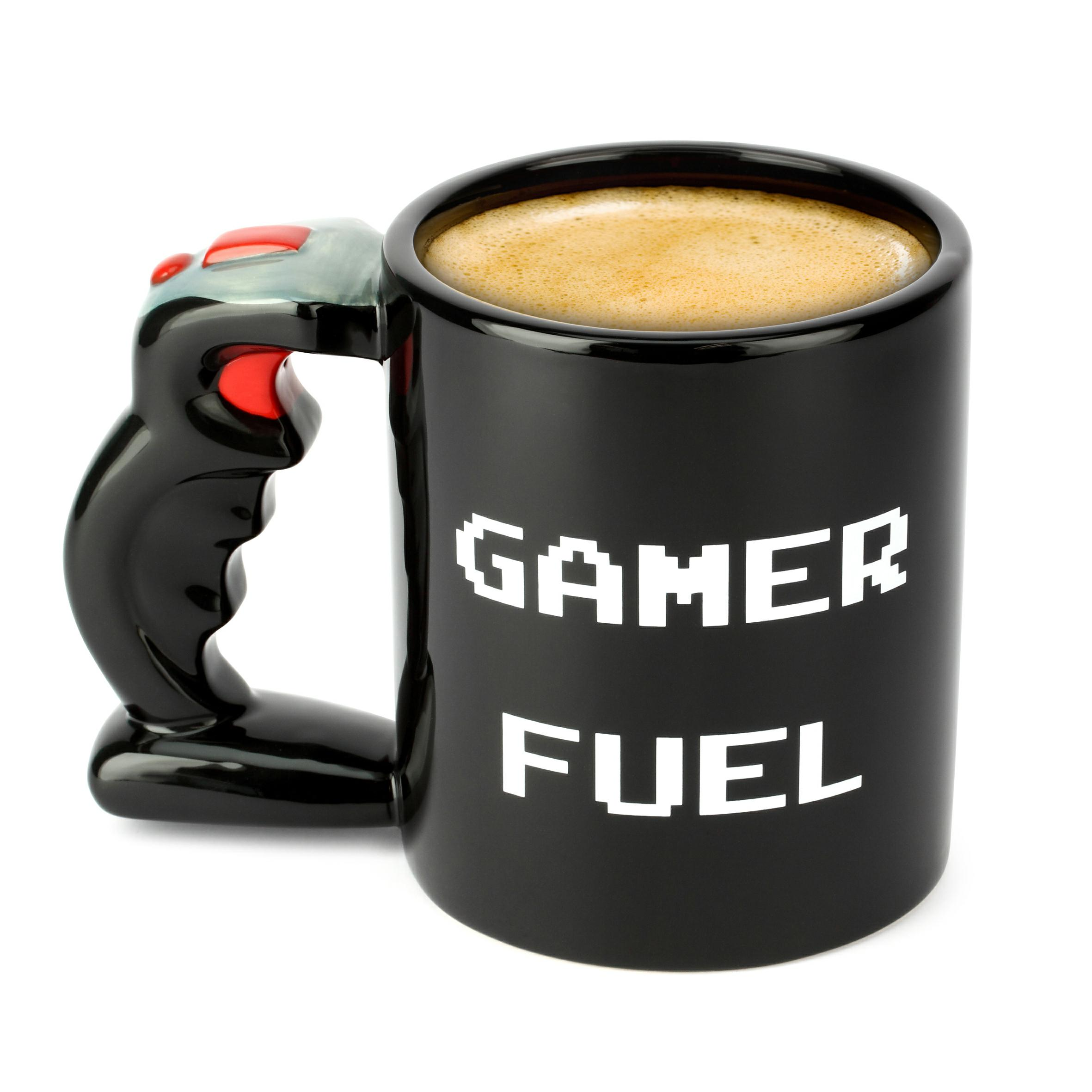 mug gamer fuel joystick super insolite. Black Bedroom Furniture Sets. Home Design Ideas