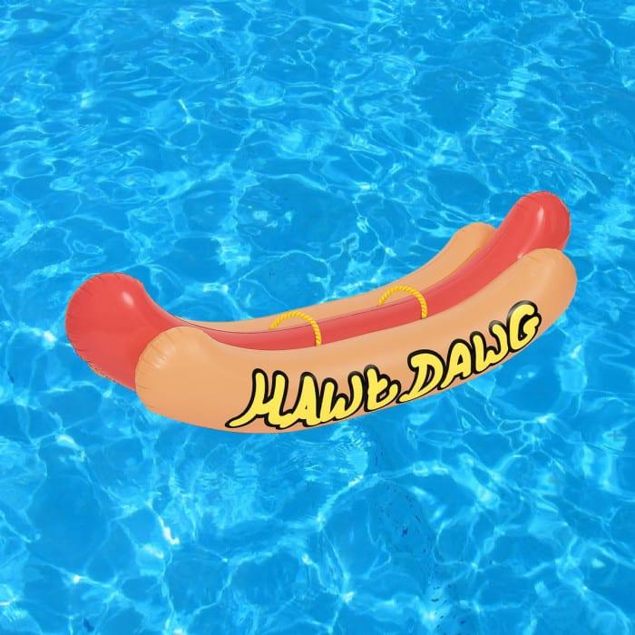 Matelas gonflable hot dog g ant super insolite for Rustine piscine gonflable