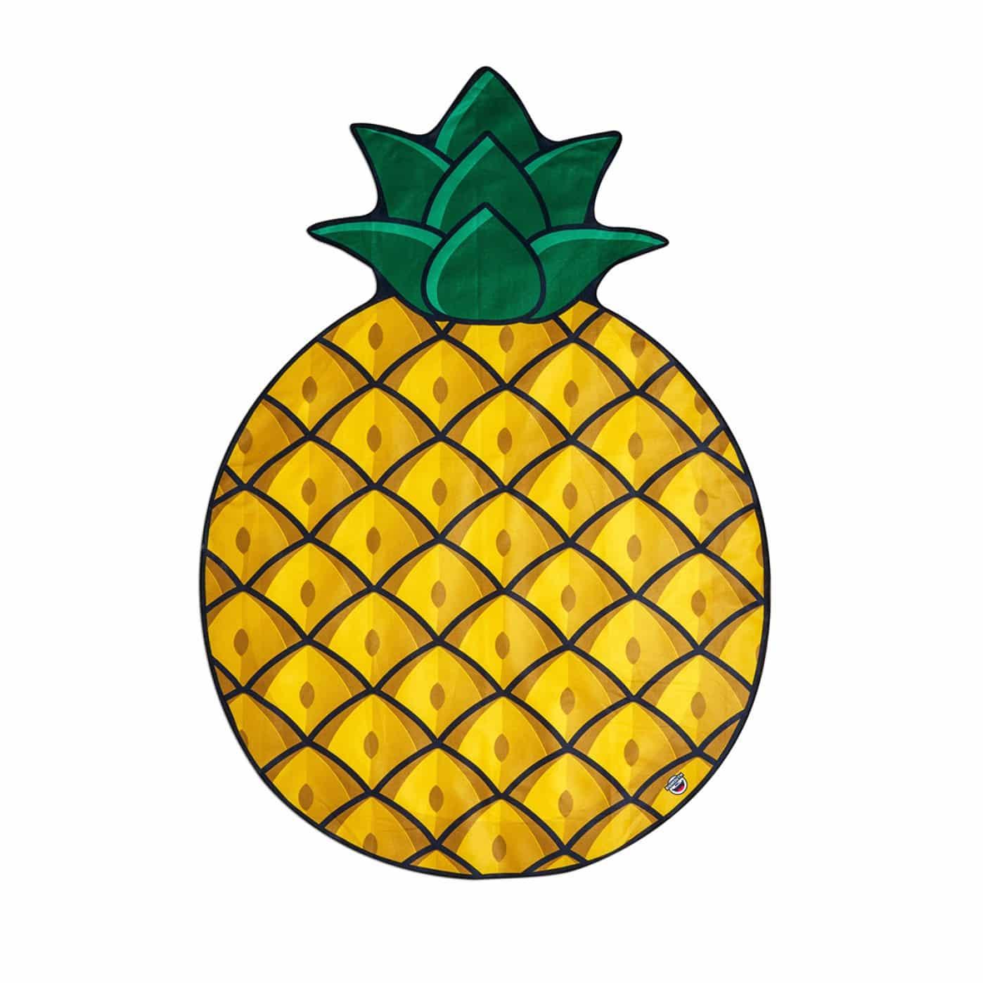 Serviette de plage ananas xxl super insolite - Serviette de plage splash ...