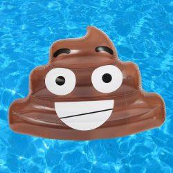matelas gonflable emoticone crotte