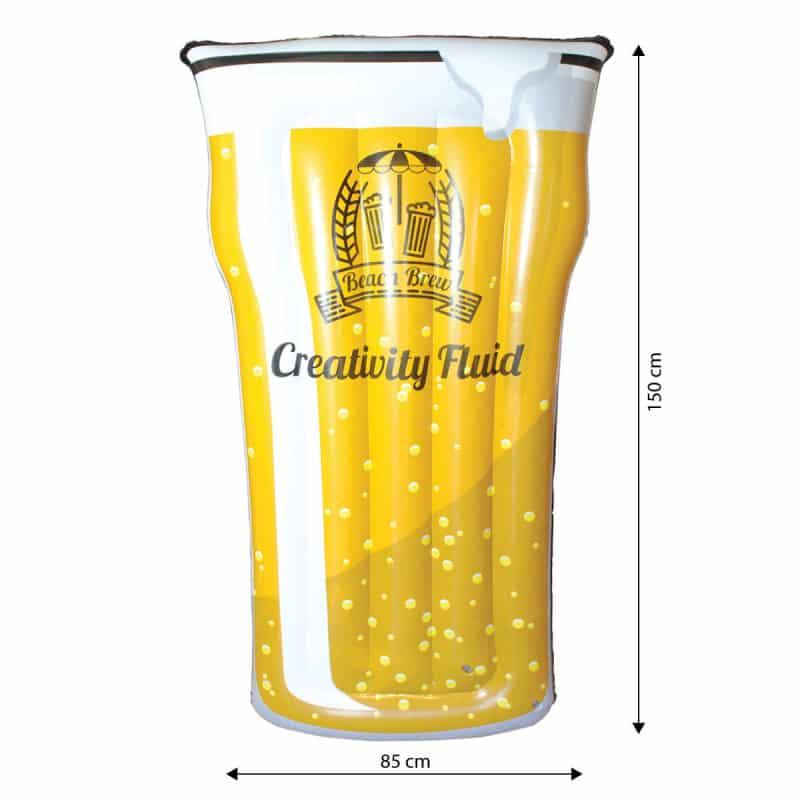 Matelas gonflable pinte de bi re xxl super insolite - Pinte de biere en ml ...