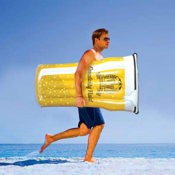 Matelas gonflable pinte de bière