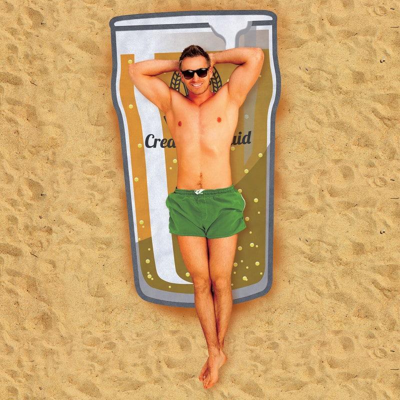 Serviette de plage pinte de bi re super insolite - Serviette de plage carrefour ...