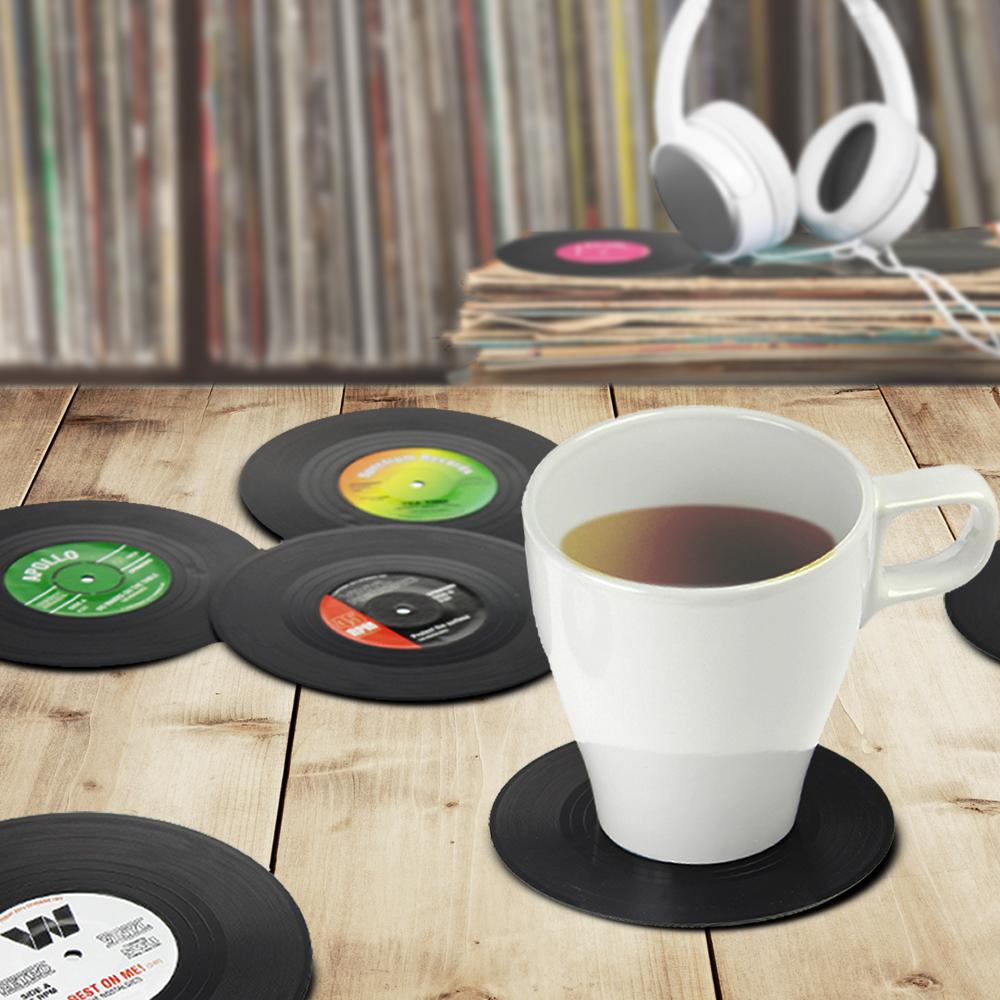 Sous-verres disques vinyles