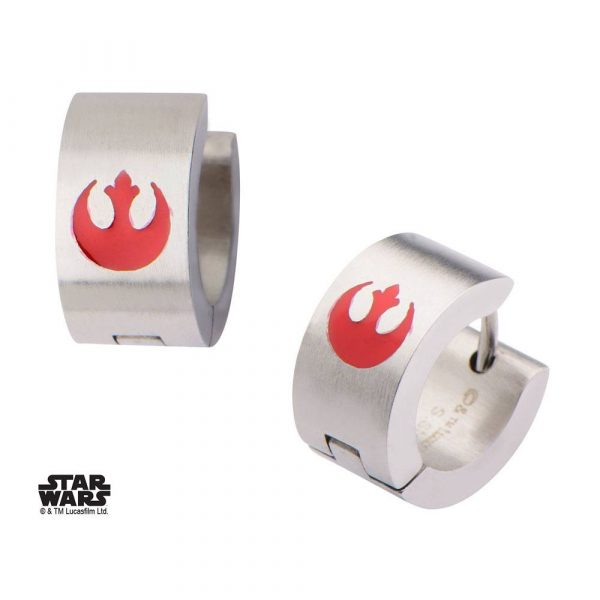boucle d'oreille star wars rebel rouge