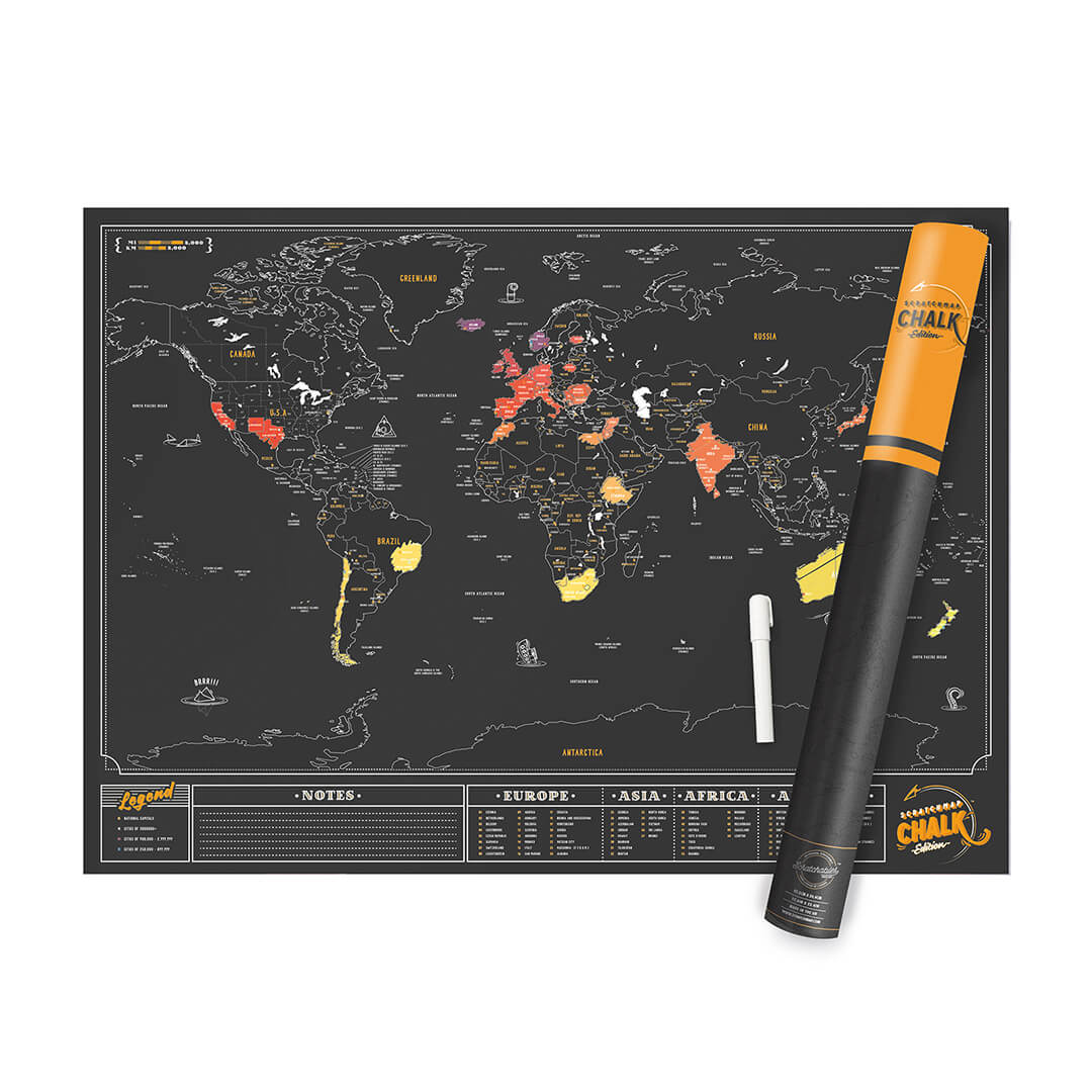 La Carte du Monde à Gratter à personnaliser | Super Insolite