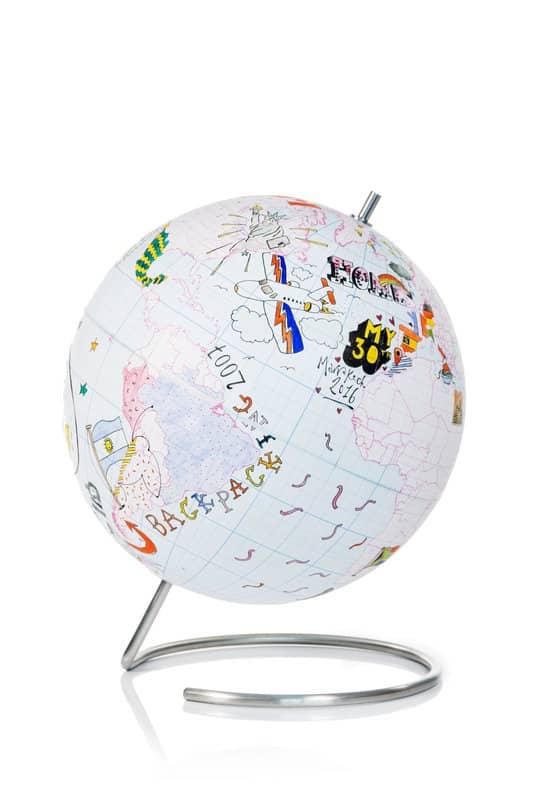 globe a colorier