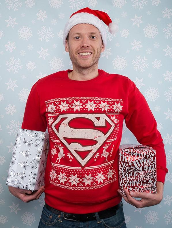 pull de noel superman