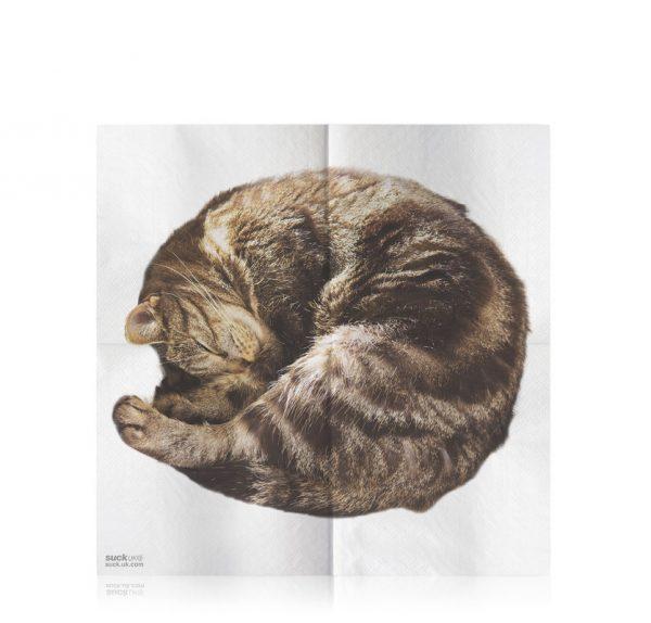 serviette chat