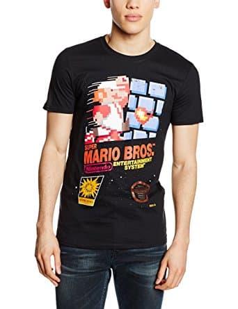 t-shirt super mario bros nintendo nes