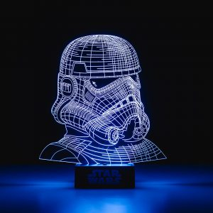 lampe stormtrooper star wars effet 3d