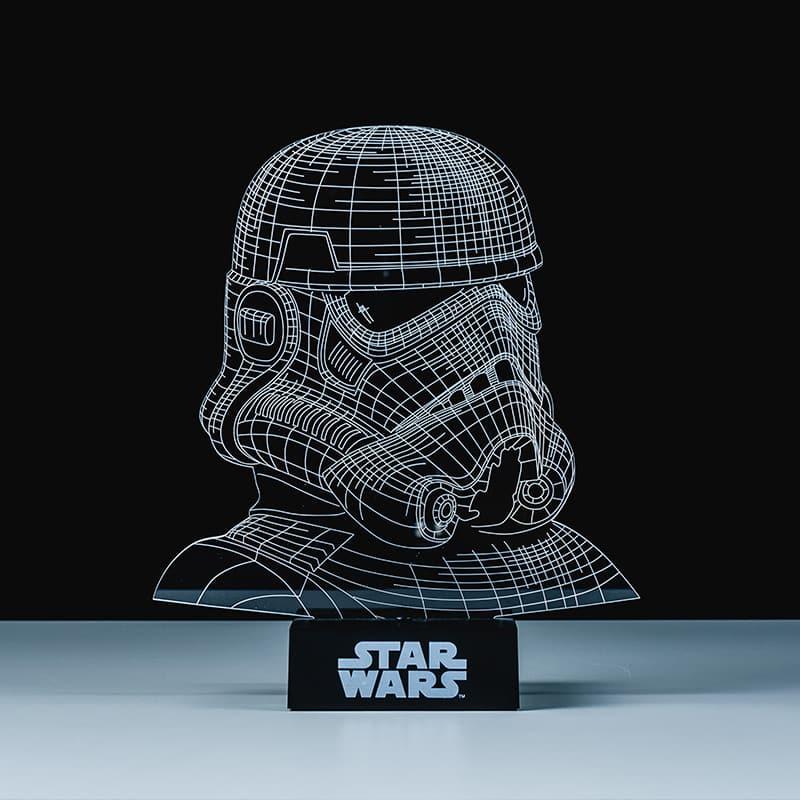 lampe stormtrooper star wars effet 3d super insolite. Black Bedroom Furniture Sets. Home Design Ideas