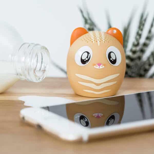 mini haut parleur chat