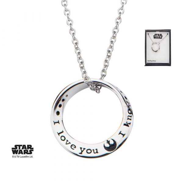 Pendentif star wars I love you I know