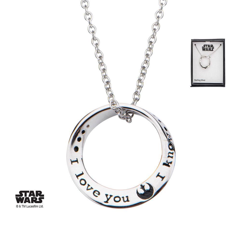 Pendentif star wars I love you I know